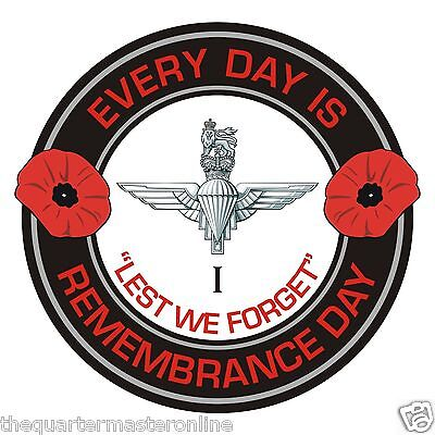 1st Btn Parachute Regiment Remembrance Day Inside Car Window Clear Cling Sticker