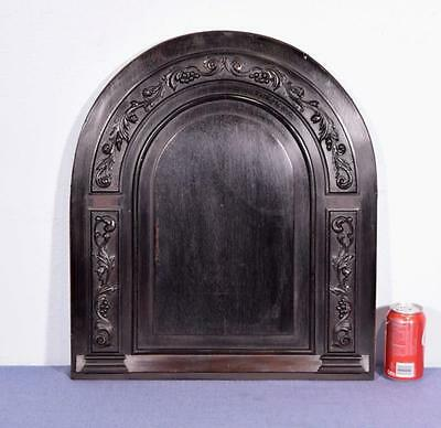 *Vintage French Carved Architectural Arched Panel Wood Salvage