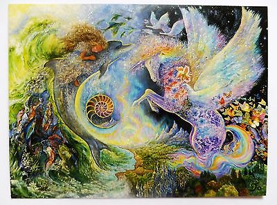 Josephine Wall 18x14cm Grußkarte Karte *Magical Meeting* mit Text