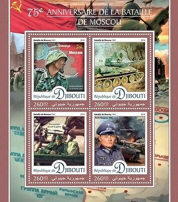 Z08 IMPERFORATED DJB16413a DJIBOUTI 2016 Battle of Moscow MNH
