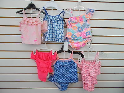 f7030465c33b5 Infant   Toddler Girls Carter s 2pc Assorted Tankini Swimsuits Size 18  Months-3T