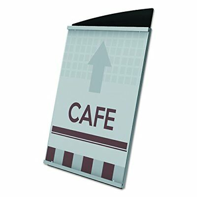 Interior Image Sign Holder, Portrait, 5 x 7 Insert, Black/Silver, Sold as (g8b)