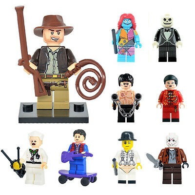 Iconic TV Film Characters Horror Comedy Movie Sci-fi Custom Minifigure Fit  Lego