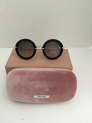 MUI MUI SUNGLASSES NEW BLACK SPARKLE mint fabulous