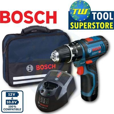 Bosch 12V Heavy Duty Combi Drill with 1x 2Ah Battery, Fast Charger & Carry Case