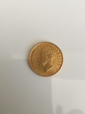 1830 George IV Gold Sovereign. Extremely fine example.