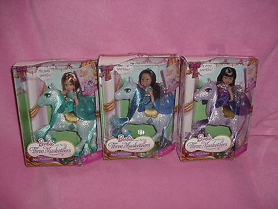 BARBIE and The THREE MUSKETEERS - KELLY as MINI Musketeers THREE (3) DOLLS  NEW