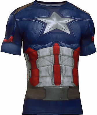 Under Armour Mens UA Transform Yourself Captain America Compression Shirt
