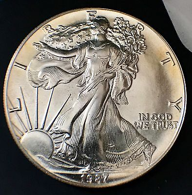 1987 Silver American Eagle Coin - BU - Brilliant Uncirculated #SE87-3