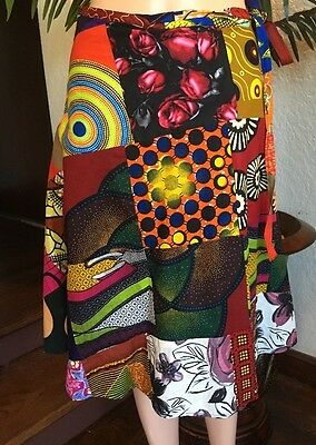 Lady Mia's of Africa Women's African Wrap SKIRT One Size 100% Cotton Wax NWT