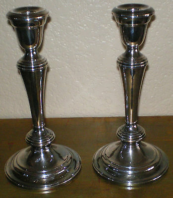 """Vintage GORHAM Pair Silver Plated 9"""" Candle Holders YC3032 adjustable to 3 sizes"""