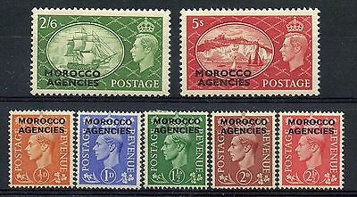 Weeda GB Offices Abroad - Morocco 263-269 VF mint LH/NH set CV $41.50