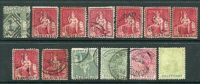 Weeda Trinidad 51//75 Mint and used collection of 1864-1904 issues CV $35.85