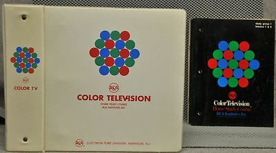 RCA Victor Color Television service home courses in binder from early 1960's