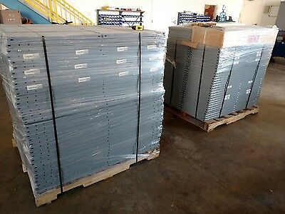 "Lyon Heavy Duty 18 gauge Gray Shelving 48"" x 18"" w/Cross Bracing - Sold as 1 Lot"