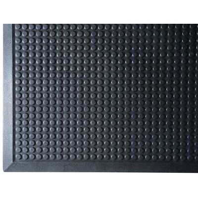 """Rubber Anti-Fatigue Mat With Beveled Edges Is 2'W x 3'L x 3/8"""", 18056"""