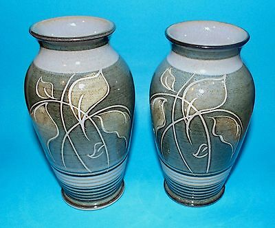 DENBY  pottery pair of vases vase 1st quality   (6589A)