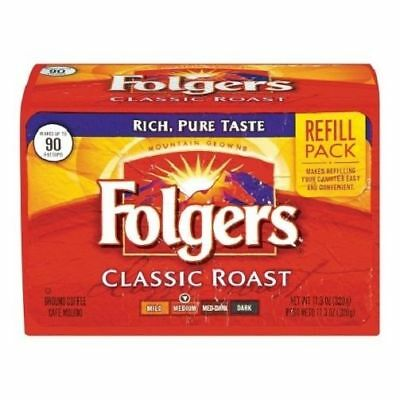 Folgers Classic Roast Ground Coffee Refill Pack