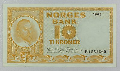 Norway 10 Kroner 1965  P-31d {DO770A}