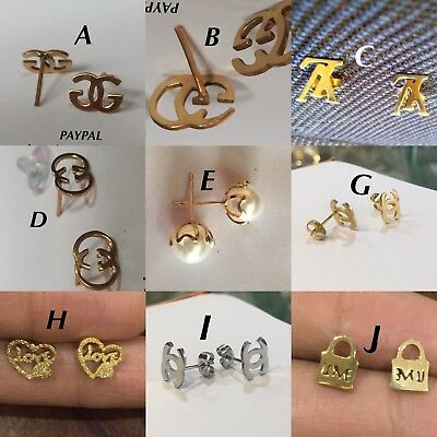 BRAND NEW : 22k Gold Plated STUD EARRINGS JEWELLERY - 5 DESIGNS ( CHOOSE ONE)❤️