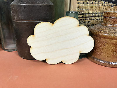 CLOUD WOODEN SHAPES FLUFFY ROUND Multiple Sizes Wood Weather Shape 2.5cm to 25cm
