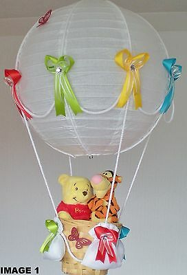 WINNIE THE POOH AND TIGGER in hot Air Balloon Lamp-light Shade for Baby Nursery