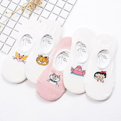 Women Low Cut Invisible Ankle Socks Ladies Boat Animal Pattern Short Cotton Sock