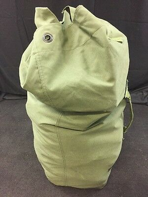 US MILITARY Nylon or Canvas Duffel Bag Backpack Survival Camping Bag Green