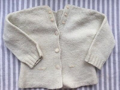 Adorable Vintage Mint Green With Roses Baby/doll Sweater