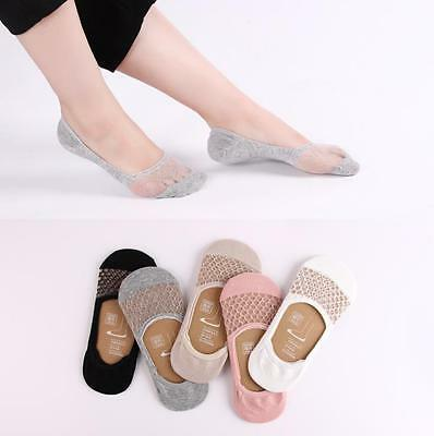 Women Casual Cute Low Cut Invisible Silk Cotton Crystal No Show Socks 1 Pair