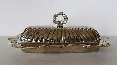 Vintage Ornate Silver Plate Butter Dish