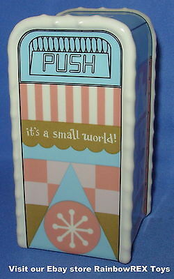 DISNEY PARKS SALT or PEPPER SHAKER TRASH CAN - IT'S A SMALL WORLD  !! NEW !!