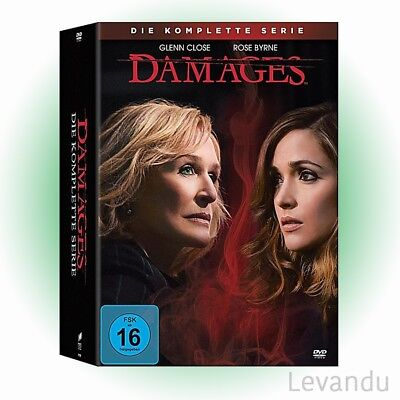 DVD-Box DAMAGES - DIE KOMPLETTE SERIE (Staffel 1-5) - 15 DVD's NEU+OVP