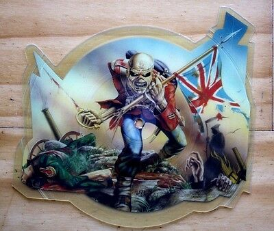 EX/EX Iron Maiden THE TROOPER Shaped Vinyl Picture Pic Disc!