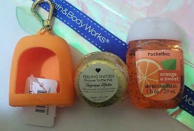 Orange u' Sweet PocketBac and Holder, and Tangerine Shower Truffle Fizz