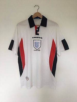 Retro ENGLAND 1997/98 Home Football Shirt (L) *WORLD CUP 98* Vintage Jersey Top