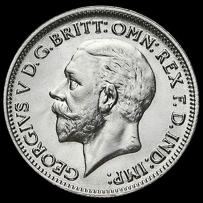1936 George V Silver Sixpence, UNC #2