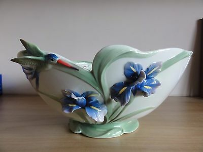 Franz Porcelain Long Tailed Humming Bird Bowl - FZ01300 - BNNB