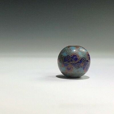 An Antique Meiji-Taisho Era Japanese Cloisonne Decorated Collectable Bead