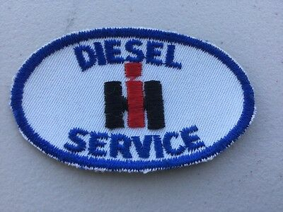 """INTERNATIONAL HARVESTER DIESEL SERVICE EMBROIDERED SEW ON PATCH FARM IH 3"""" x 2"""""""