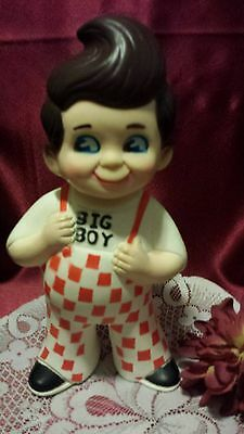 Vintage Big Boy 9'' Doll Piggy Bank Stamped Merriott 1973