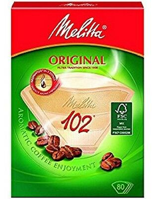 Genuine Original MELITTA 102 Paper Filters Coffee Machine Brown Filter Box x 2