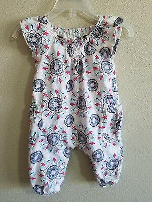 Tea Collection Cotton one Piece Short Sleeve Outfit 0-3 Months