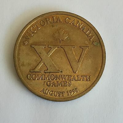 Sunday Telegraph Canada XV 1994 Commonwealth Games Commemorative Medal Token