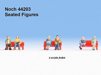 Noch 44203 Z Scale Figure Set Seated Sitting People Passengers *NEW $0 SHIPPING