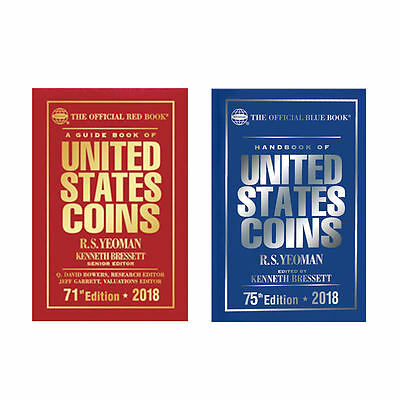 2018 Red Book Price Guide and 2018 Blue Book, Handbook of U.S. Coins, Hardbound