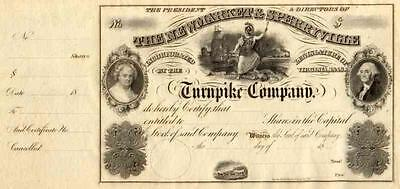 18__ Newmarket & Sperryville Turnpike Stock Certificate