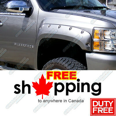 07-13 Chevy Silverado 1500 (07-14 25/3500 HD) Pocket-Riveted Fender Flares 4pcs
