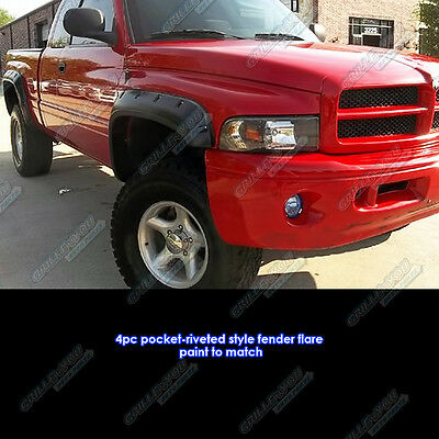 APS Reinforced ABS Fender Flares Riveted 4Pcs For 94-01 Dodge Ram