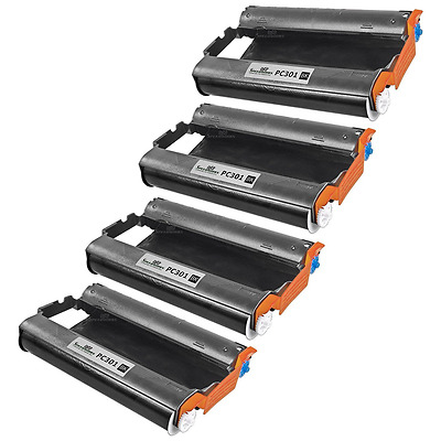 4 Pack PC301 Intellifax Compatible Fax Ink Cartridge with Roll